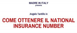 Come ottenere il National Insurance Number